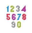 Contemporary handwritten digits numerals vector image vector image