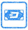 dash banknote framed stamp vector image vector image