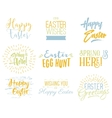 Easter wishes overlays lettering labels design vector image vector image