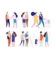 family characters young age people dad mom vector image vector image