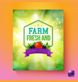 farm fresh and grown locally label or poster vector image