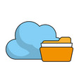 find archiving cloud vector image vector image