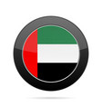 flag of united arab emirates black round button vector image