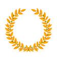 gold laurel wreath vintage wreaths heraldic vector image vector image