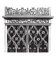 gothic screen is designed flamboyant oak design vector image vector image