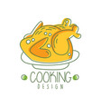 hand drawn cooking logo original design with baked vector image vector image