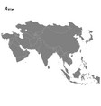 high quality map asia vector image vector image