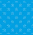 house protection pattern seamless blue vector image vector image