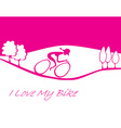 I love my bike card vector image vector image