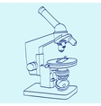 line art silhouette of microscope Cartoon vector image vector image