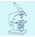 Line art silhouette of microscope Cartoon vector image