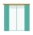 living room window icon cartoon style vector image