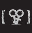 male and female symbol sketch design vector image