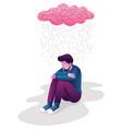 man in depression vector image vector image
