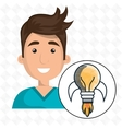 man young idea icon vector image vector image