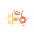 mechanical checklist icon design vector image