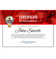 official white certificate with red triangles and vector image vector image