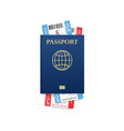 passport mock up travel concept citizenship id vector image vector image