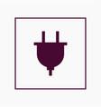 plug icon simple vector image