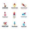 Rockets Spaceship Symbol vector image vector image