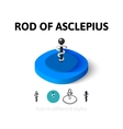 rod asclepius icon in different style vector image vector image