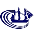 Sailing ship-13 vector image vector image