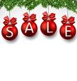 Sale realistic christmas balls vector image vector image