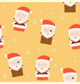santa and chimney christmas seamless pattern vector image vector image