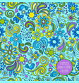 seamless boho floral pattern vector image