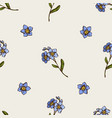 seamless pattern with hand drawn colored forget me vector image