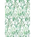 seamless texture with green leaves and branches vector image vector image