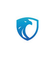 security shield blue eagle logo design template vector image