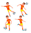 soccer young man player man modern vector image vector image
