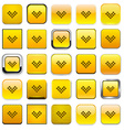 Square yellow download icons vector image vector image