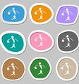 Summer sports basketball symbols Multicolored vector image vector image