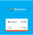 sydney logo design with business card template vector image vector image
