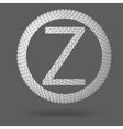 The letter Z Polygonal letter Abstract Creative vector image