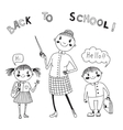 The teacher with the students Back to school vector image vector image