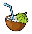 tropical cocktail icon summer beach party drink vector image