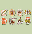 vintage beer stickers set alcoholic label with vector image