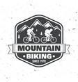 vintage typography design with man riding bike and vector image vector image