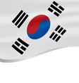 waving flag south korea isolated on white vector image