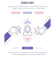website banner and landing page search staff vector image vector image