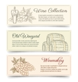 Wine and wine making banners vector image vector image
