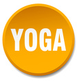 yoga orange round flat isolated push button vector image vector image