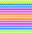 Wave green pink orange blue background seamless vector image