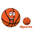Basketball ball with flaming Sports text vector image