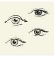 Hand-drawn eyes vector image