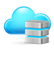 cloud computing and remote database on white vector image