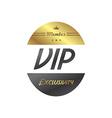 vip member badge vector image